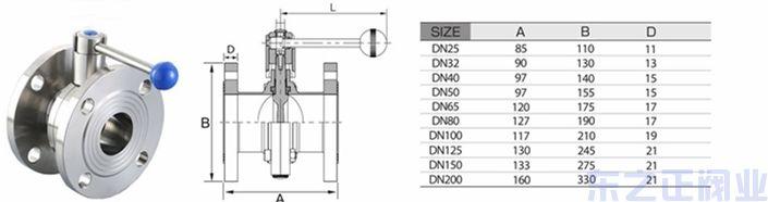衛生級法蘭蝶閥 水處理不銹鋼法蘭蝶閥結構圖